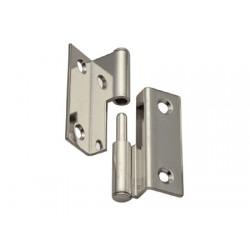 hochglanzpolierter Edelstahl 2-Ebenen-Vierkantscharniere H40 x L19 + 16 mm