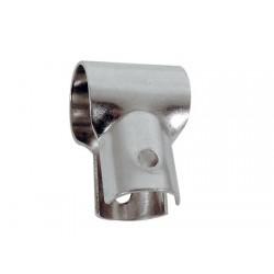 Edelstahl Open T Handlaufanschluss 22 mm