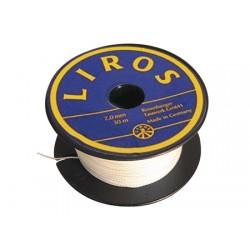 Полиэстер белая швейная нить Лирос 0,3 мм 140м