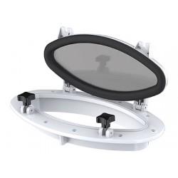 Weiße ovale Tür 410 x H220mm