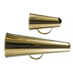 klassisches Megaphon aus poliertem Messing 20 cm